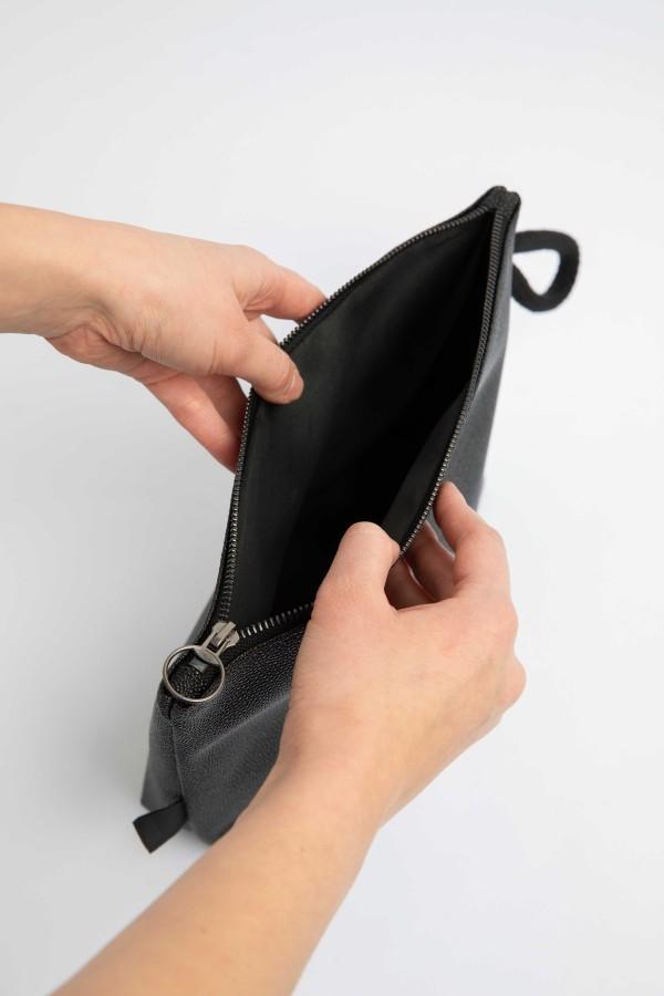 CLASSIC GREY CLUTCH BAG 2in1