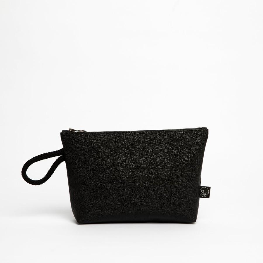 RAJA BLACK CLUTCH BAG 2in1