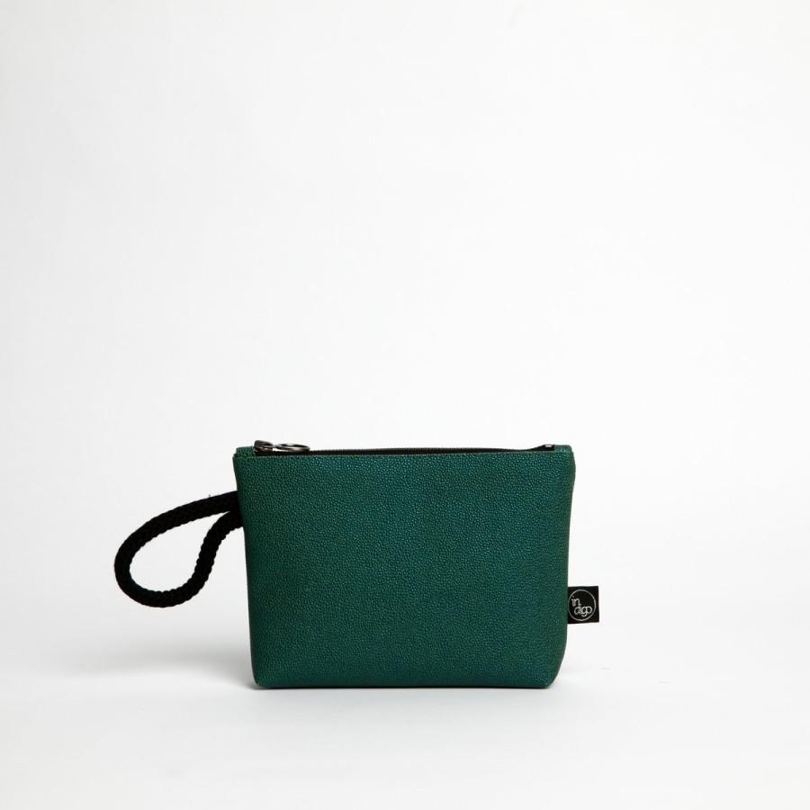 RAJA GREEN CLUTCH BAG 2in1