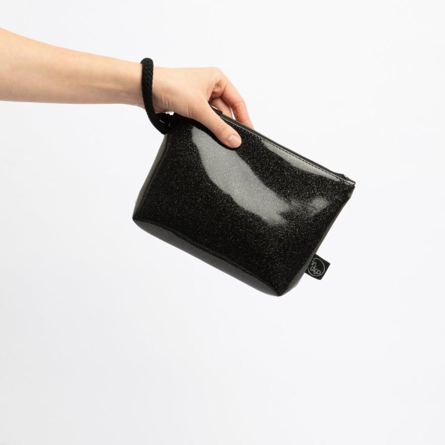 COSMO BLACK CLUTCH BAG 2in1