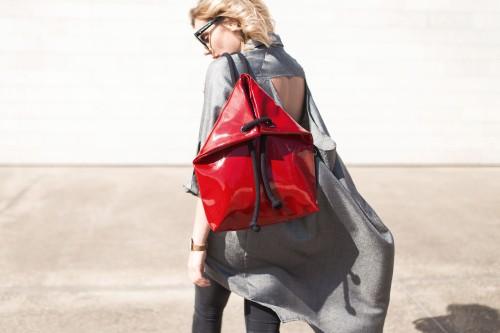 LACK RED BAG - BACKPACK