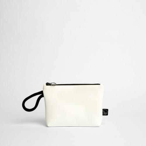 CLASSIC WHITE CLUTCH BAG 2in1