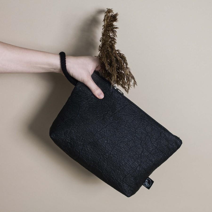 ANANAS BLACK CLUTCH BAG 2in1 L size