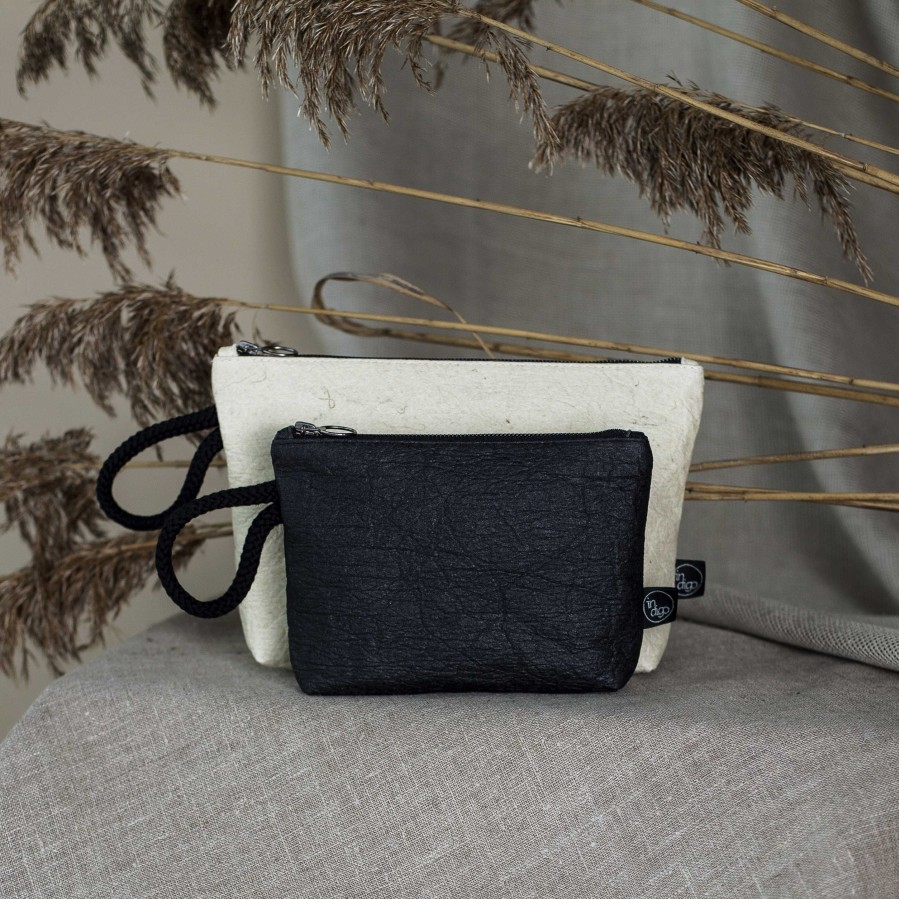 ANANAS NATURAL CLUTCH BAG 2in1 M size