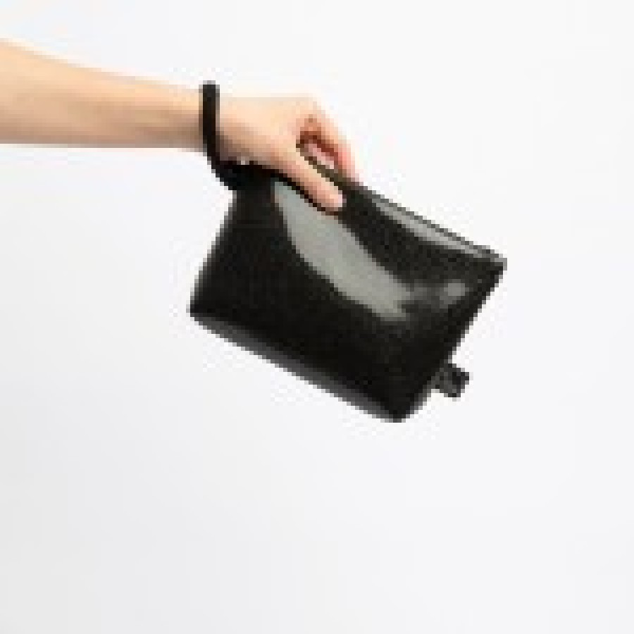 LACK BLACK CLUTCH BAG 2in1
